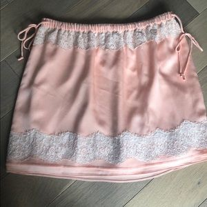Pink Silk and Lace Skirt (size S)